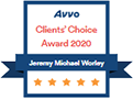 Logo Recognizing The Injury and Disability Law Center's affiliation with AVVO Clients' Choice