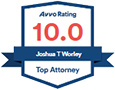 Logo Recognizing The Injury and Disability Law Center's affiliation with AVVO Top Attorney