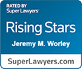 Logo Recognizing The Injury and Disability Law Center's affiliation with Super Lawyers